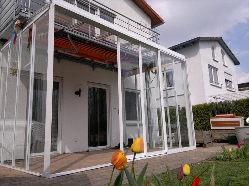 Balkonverglasung weiß Missel