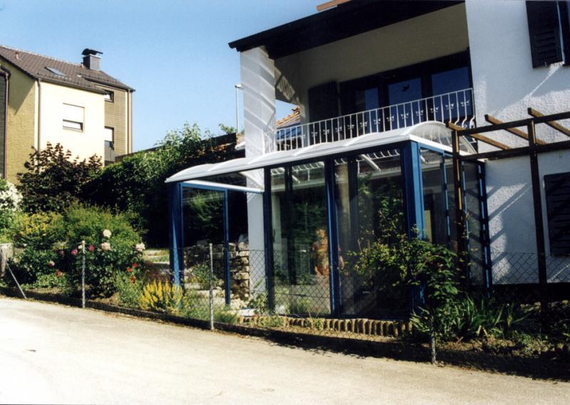 Balkonverglasung mit Alu Rahmen