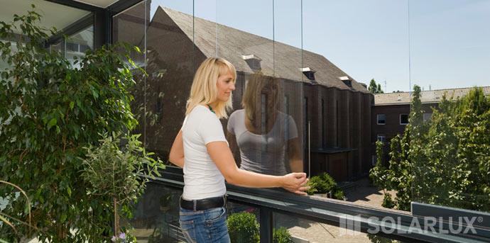 Balkonverglasung rahmenlos