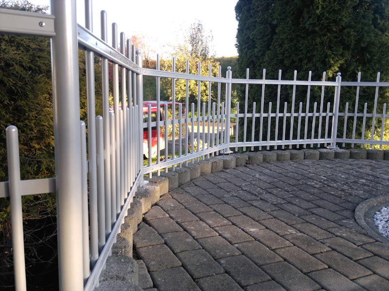 Zaun auf Gehrung
