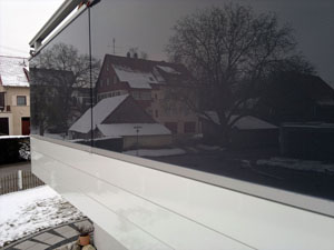 Balkonvarianten aus Glas und Alu
