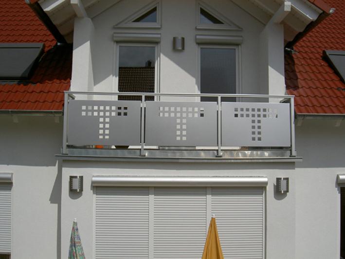 Balkon aus Alu