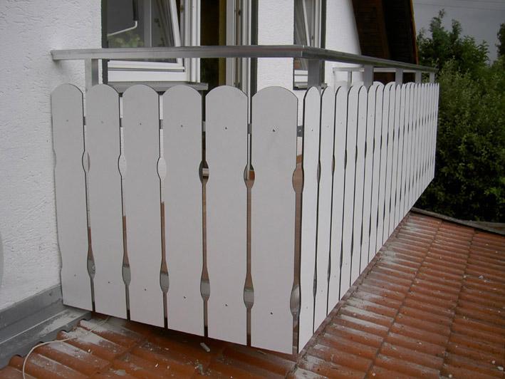 Balkonbretter gefräst